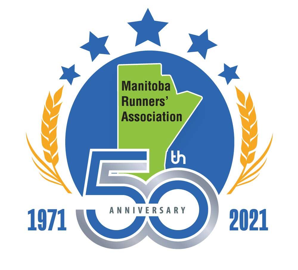 Manitoba Runners' Association 50th anniversary logo