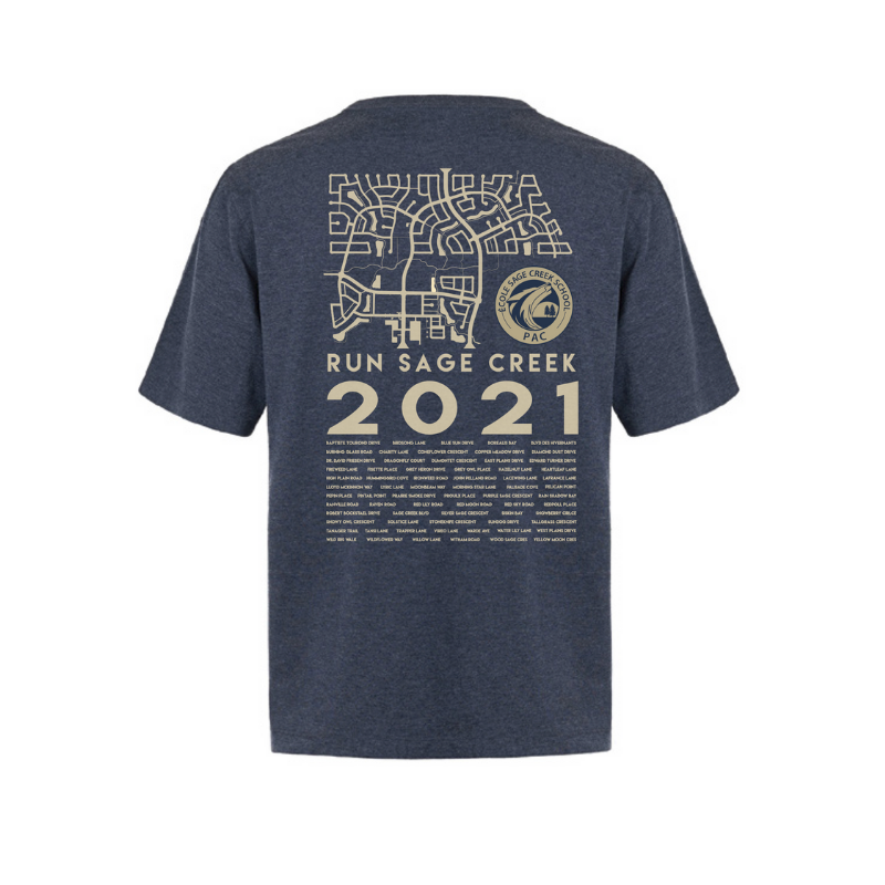 Navy t-shirt - back - women's