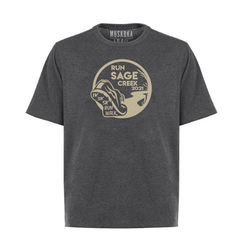 Charcoal t-shirt - front - men's