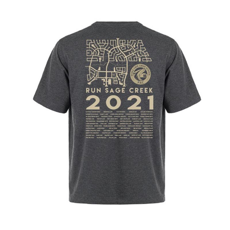 Charcoal t-shirt - back - men's