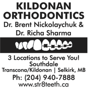 Logo and contact information for Kildonan Orthodontics